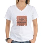 Indicated or Contraindicated? Women's V-Neck T-Shi