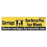Defend Carriage Bumper Sticker