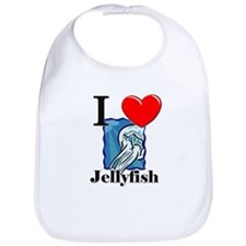 I Love Jellyfish Bib