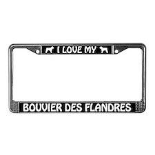 I Love My Bouvier Des Flandres License Plate Frame