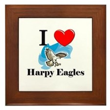 I Love Harpy Eagles Framed Tile