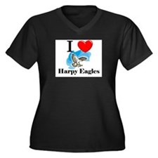 I Love Harpy Eagles Women's Plus Size V-Neck Dark