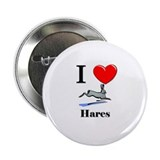 "I Love Hares 2.25"" Button (10 pack)"