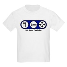 Eat, Sleep, Play Poker Kids T-Shirt