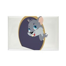 Peekaboo Mouse Rectangle Magnet (10 pack)