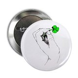 "Shamrock in Hand 2.25"" Button"