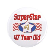 "Superstar at 47 3.5"" Button (100 pack)"