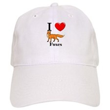 I Love Foxes Baseball Cap