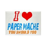 I love Paper mache Rectangle Magnet