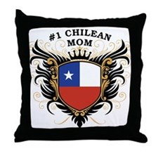 Number One Chilean Mom Throw Pillow