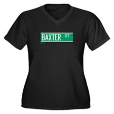 Baxter Place in NY Women's Plus Size V-Neck Dark T