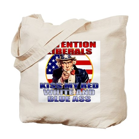 Uncle Sam Anti Liberal Tote Bag