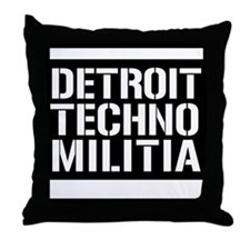 Detroit Techno Militia Throw Pillow