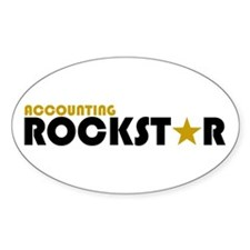 Accounting Rockstar2 Oval Decal
