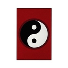 Yin-Yang Symbol Rectangle Magnet