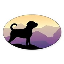 Purple Mountains Puggle Oval Decal