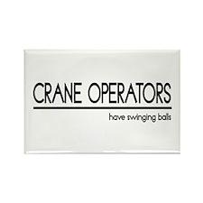 Crane Operator Joke Rectangle Magnet