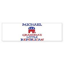 Michael - Grandma's Little Re Bumper Bumper Sticker