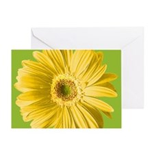 Pop Art Yellow Daisy Greeting Card