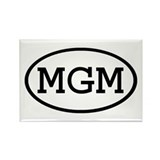 MGM Oval Rectangle Magnet