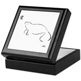 Manatee Brush Art Keepsake Box