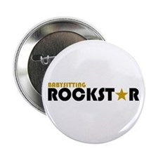 "Babysitting Rockstar 2 2.25"" Button"