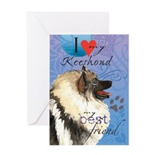 Keeshond Greeting Card