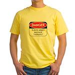 Elbow Armed Massage Therapist Yellow T-Shirt