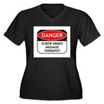 Elbow Armed Massage Therapist Women's Plus Size V-
