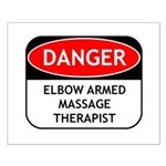 Elbow Armed Massage Therapist Small Poster