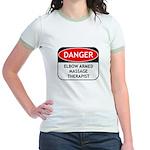 Elbow Armed Massage Therapist Jr. Ringer T-Shirt