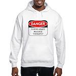 Elbow Armed Massage Therapist Hooded Sweatshirt
