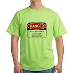Elbow Armed Massage Therapist Green T-Shirt