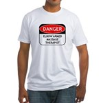 Elbow Armed Massage Therapist Fitted T-Shirt