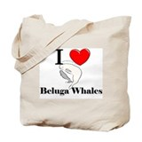 I Love Beluga Whales Tote Bag