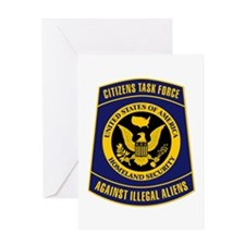 Citizens Task Force Patch Greeting Card