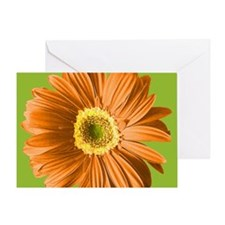 Pop Art Orange Daisy Greeting Card