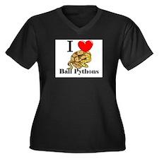I Love Ball Pythons Women's Plus Size V-Neck Dark