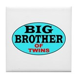 Big Brother of Twins Tile Coaster