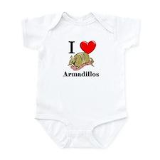 I Love Armadillos Infant Bodysuit