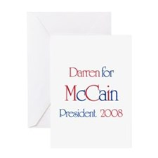 Darren for McCain 2008 Greeting Card
