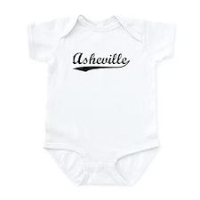 Vintage Asheville (Black) Infant Bodysuit