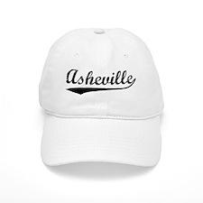 Vintage Asheville (Black) Baseball Cap