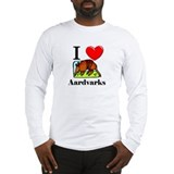 I Love Aardvarks Long Sleeve T-Shirt