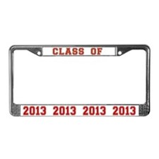 Red Class of 2013 License Plate Frame