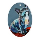 A French Bulldog Keepsake (Oval)