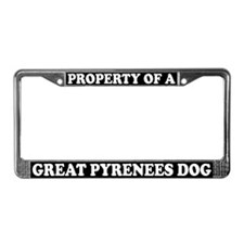 Property Of A Great Pyrenees License Plate Frame