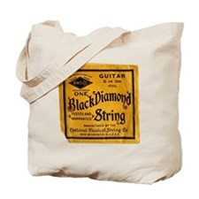 Black Diamond Guitar Strings Dark Tote Bag