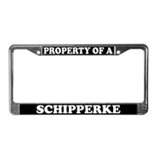 Property Of A Schipperke License Plate Frame