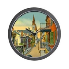 New Orleans Art Wall Clock